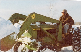 Jim plowing snow